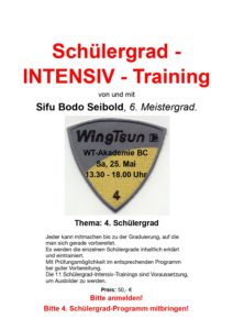 Schülergrad - Intensiv - Training @ WingTsun - Akademie Biberach