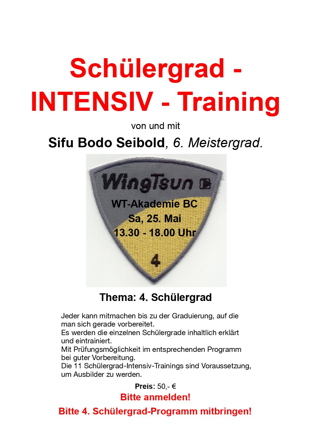 Schülergrad – Intensiv – Training