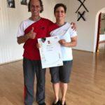 Urkundenverleihung zum 2. Lehrergrad WingTsun KungFu für Selina Eschrich