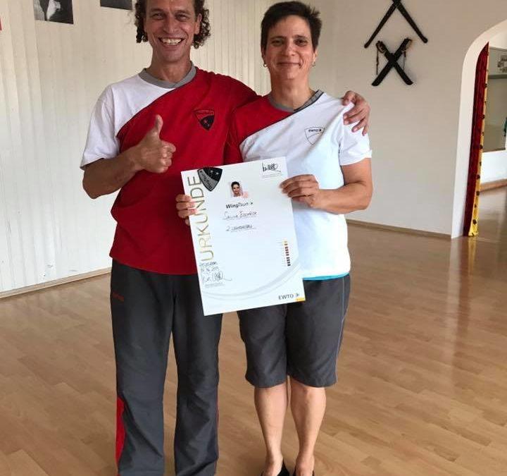 Selina Eschrich erhält den 2. Lehrergrad im WingTsun KungFu