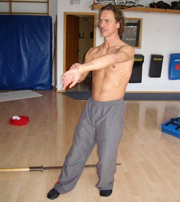 Meister Sifu Bodo Seibold erklärt anschaulich , wie die Bewegungen der Chum Kiu Form korrekt ausgeführt werden.