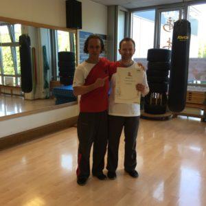 Verleihung des 2. Lehrergrads im WingTsun KungFu