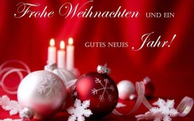 Wir wünschen euch allen besinnliche Weihnachtstage und ein gutes neues Jahr