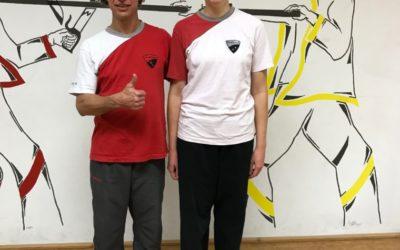 Lisbeth erhält den 2. höheren Grad im WingTsun