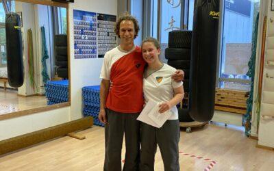 Kim Lorena hat den 12. SG WingTsun Kung Fu bestanden