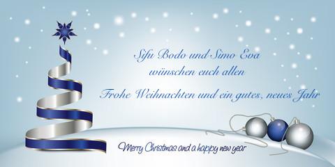 Frohe Weihnachten und ein gutes, neues Jahr